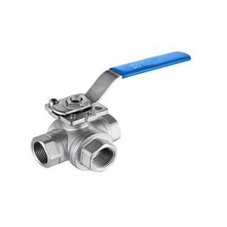 3 manera Ball Valves con Mounting Pad